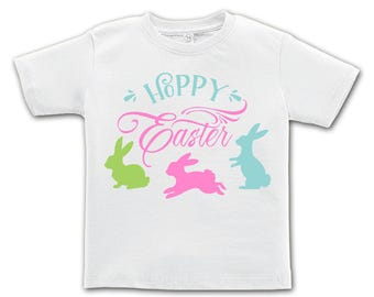 Hoppy Easter 3 Bunny Design. Easter outfit. / Boys / Girls / Infant / Toddler / Youth sizes