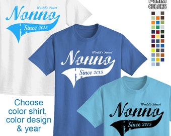 World's Finest Nonno - Personalized w/ Year - Men's T-Shirt Great gift! (Italian Grandpa) We carry sizes S - 5XL in 30 Colors!