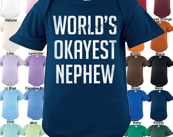 World's Okayest Nephew Bodysuit - Boys / Girls