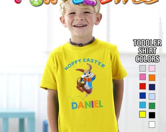 Hoppy Easter T-Shirt - Boys - Toddler - Personalized with Name