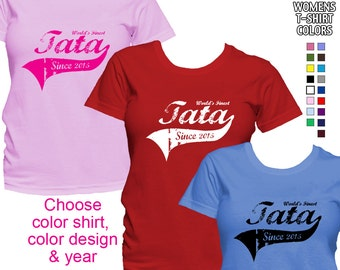 World's Finest Tata - Personalized with Year - Classic Fit Ladies' T-Shirt (Arabic Grandma)