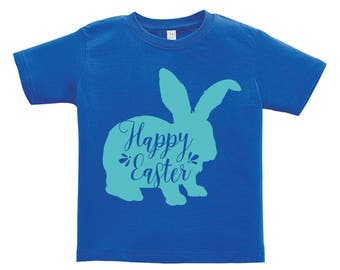 Happy Easter Blue Bunny Design. Easter outfit. / Boys / Girls / Infant / Toddler / Youth sizes