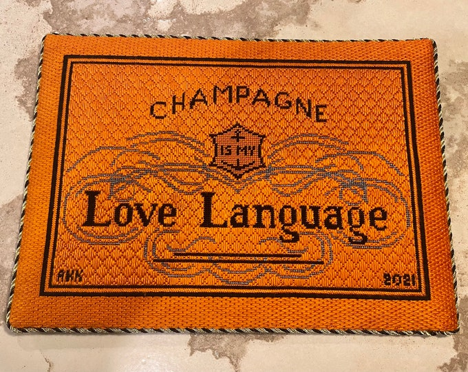 PRE-ORDER Hand Painted Champagne is My Love Language Canvas