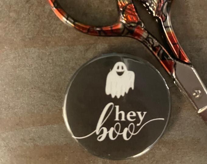 Hey Boo Halloween Needle Minder Magnet - Great gift