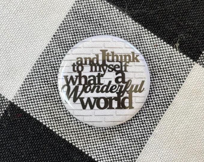 What a Wonderful World Holiday Needle Minder Magnet --Gift or Stocking Stuffer for Stitchers