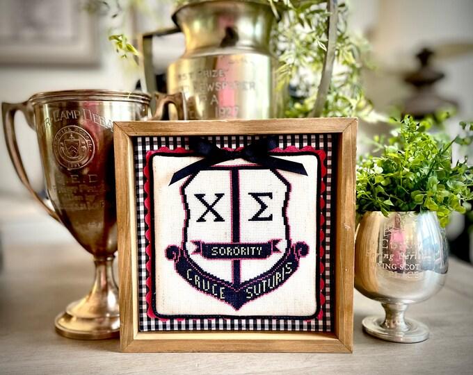 Chi Sigma Cross Stitch Sorority Crest CROSS STITCH CHART