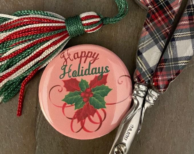 Happy Holidays Needle Minder Magnet - Great gift or Stocking Stuffer
