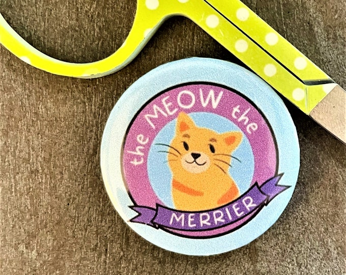 The Meow the Merrier Needle Minder Magnet --Gift or Stocking Stuffer