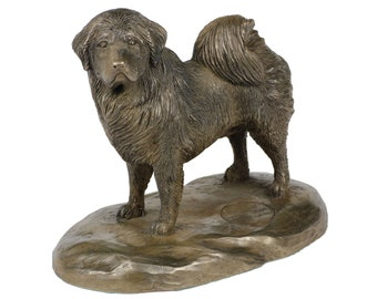 Tibetan Mastiff, dog wooden base statue, limited edition, ArtDog
