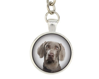 Weimaraner. Keyring, keychain for dog lovers. Photo jewellery. Men's jewellery. Handmade.
