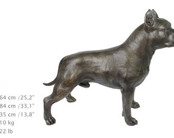 Amstaff - American Staffordshire Terrier, dog natural size statue, solid statue for dog lovers, exceptional gift, limited edition, ArtDog