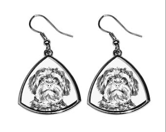 Bolonka- NEW collection of earrings with images of purebred dogs, unique gift