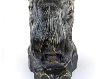 Urn for dog ashes - Schnauzer statue. ArtDog Collection Cremation box, Custom urn.