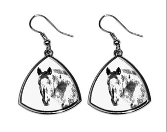 Appaloosa, collection of earrings with images of purebred horses, unique gift. Collection!