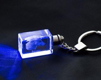 Borzoi, Dog Crystal Keyring, Keychain, High Quality, Exceptional Gift . Dog keyring for dog lovers