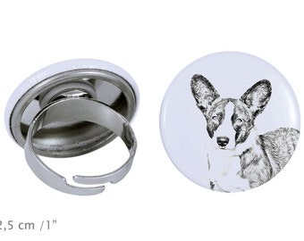Ring with a dog- Cardigan Welsh Corgi