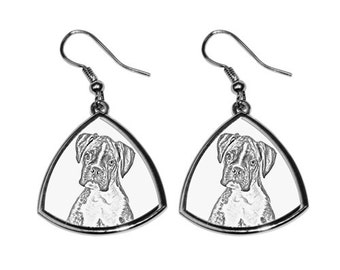 Boxer - NEW collection of earrings with images of purebred dogs, unique gift