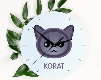 A clock with a Korat cat. A new collection with the cute Art-Dog cat