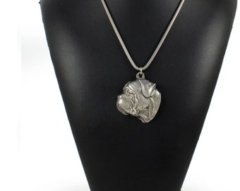 NEW, Bullmastiff, dog necklace, silver cord 925, limited edition, ArtDog
