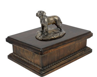 Exclusive Urn for dog's ashes with a Labrador Retriever statue, ART-DOG. New model Cremation box, Custom urn.
