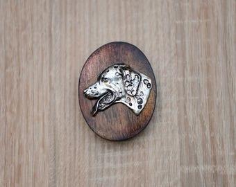 Dalmatian, dog clipring, dog show ring clip/number holder, limited edition, ArtDog