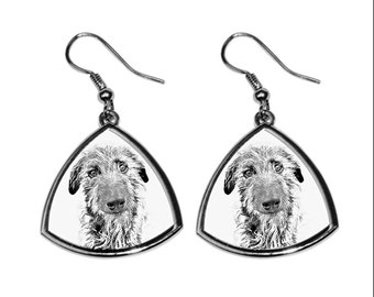 Scottish Deerhound- NEW collection of earrings with images of purebred dogs, unique gift
