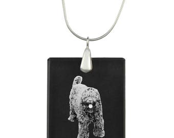 Black Russian Terrier, Dog Crystal Pendant, SIlver Necklace 925, High Quality, Exceptional Gift, Collection!