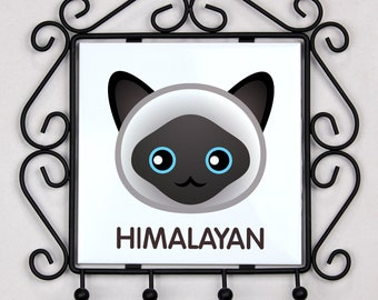 A key rack, hangers with Himalayan cat. A new collection with the cute Art-dog cat