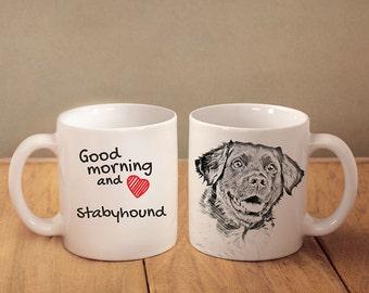 """Stabyhoun - a mug with a dog. """"Good morning and love..."""". High quality ceramic mug. NEW COLLECTION! Dog Lover Gift, Christmas Gift"""