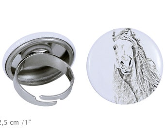 Ring with a horse - Pintabian