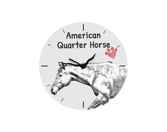 American Quarter Horse, Free standing MDF floor clock with an image of a horse.