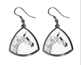 Falabella, collection of earrings with images of purebred horses, unique gift. Collection!