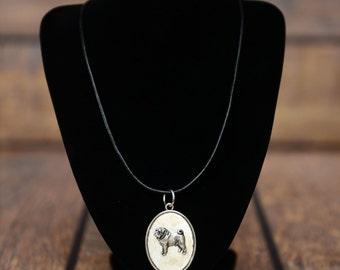 Pug, dog necklace, medallion, limited edition, extraordinary gift, ArtDog