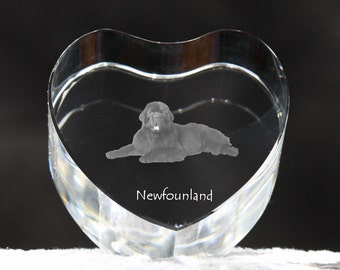 Newfoundland, crystal heart with dog, souvenir, decoration, limited edition, Collection