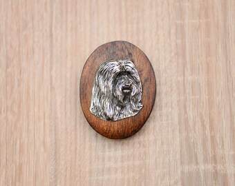 Bearded Collie, dog clipring, dog show ring clip/number holder, limited edition, ArtDog