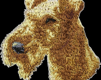 Irish Terrier - Embroidery, patch with the image of a pedigree dog.