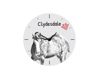 Clydesdale, Free standing MDF floor clock with an image of a horse.