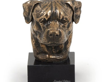Rottweiler, dog marble statue, limited edition, ArtDog. Made of cold cast bronze. Solid, perfect gift. Limited edition.