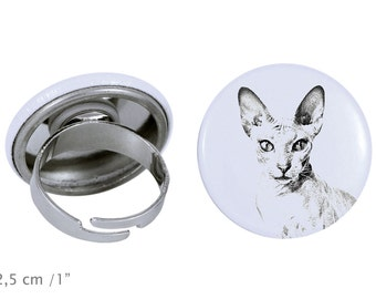 Ring with a cat -Peterbald