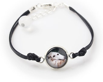Borzoi, Russian Wolfhound. Bracelet for people who love dogs. Photojewelry. Handmade.