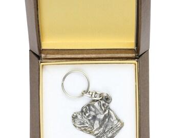 10x NEW, Staffordshire Bull Terrier, dog keyring, key holder, in casket, limited edition, ArtDog . Dog keyring for dog lovers