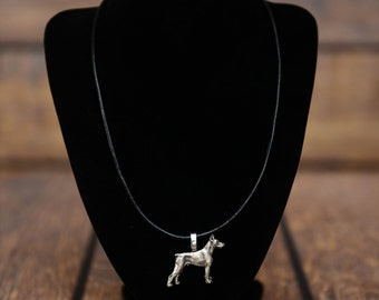 Dobermann , dog necklace, limited edition, extraordinary gift, ArtDog