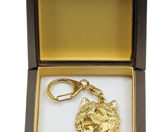 NEW, Cairn Terrier, millesimal fineness 999, dog keyring, in casket, keychain, limited edition, ArtDog . Dog keyring for dog lovers