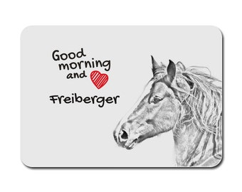 Freiberger, A mouse pad with the image of a horse. Collection!