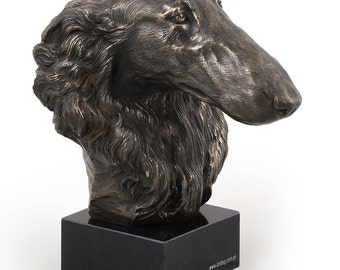 Borzoi, Russian Wolfhound, dog marble statue, limited edition, ArtDog. Made of cold cast bronze. Solid, perfect gift. Limited edition.