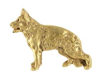 German Shepherd body, millesimal fineness 999, dog pin, limited edition, ArtDog