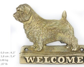 Norfolk Terrier, dog welcome, hanging decoration, limited edition, ArtDog