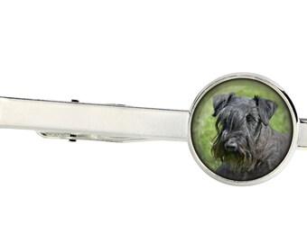 Cesky Terrier. Tie clip for dog lovers. Photo jewellery. Men's jewellery. Handmade