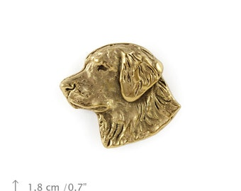 Golden Retriever (head), millesimal fineness 999, dog pin, limited edition, ArtDog