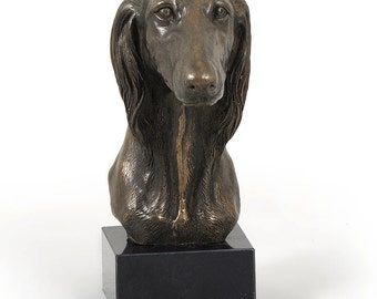 Saluki, dog marble statue, limited edition, ArtDog. Made of cold cast bronze. Solid, perfect gift. Limited edition.